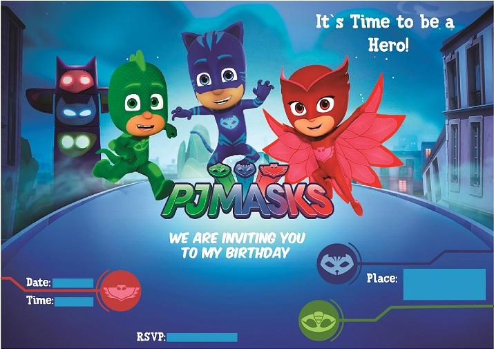 Pj Mask Invitation Free New Pj Masks Birthday Party Ideas and themed Supplies