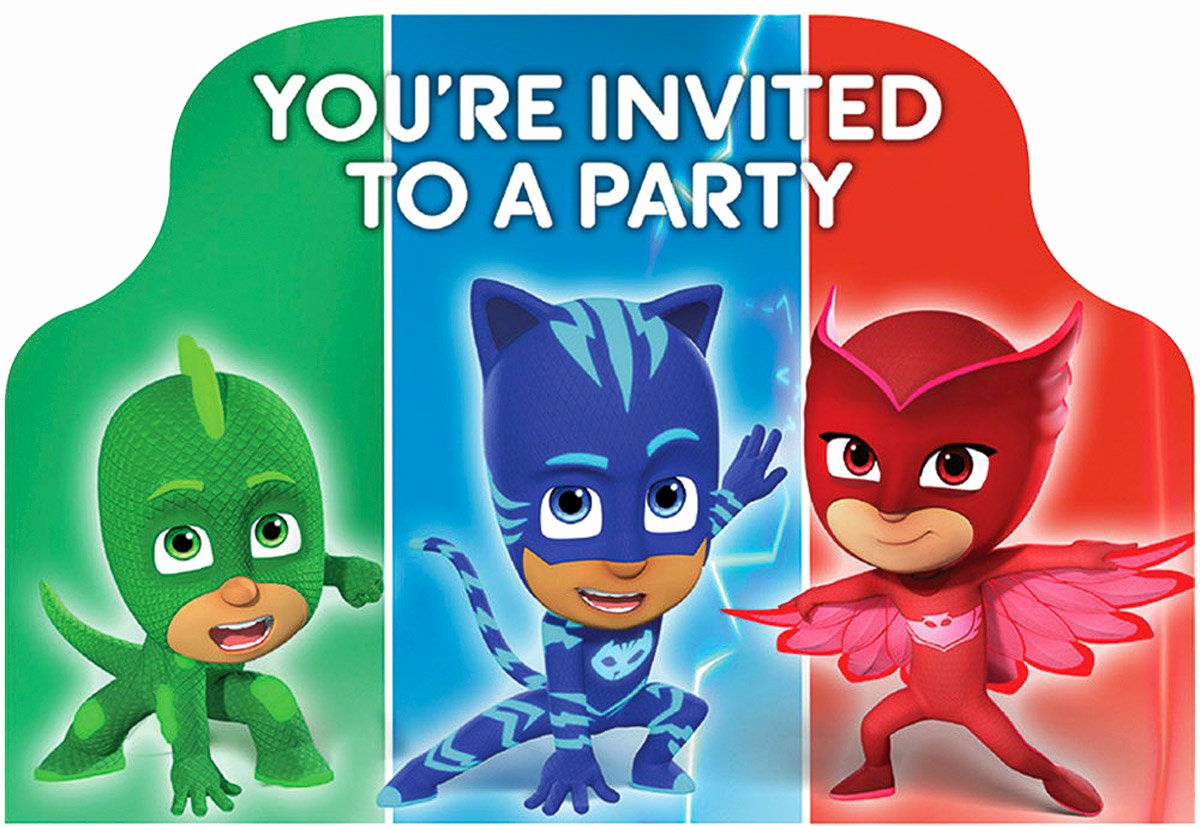 Pj Mask Invitation Free Unique Pj Masks Party Ideas