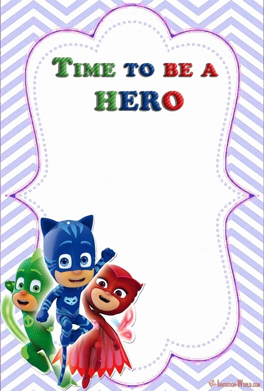 Pj Mask Invitation Template Awesome Free Pj Masks Invitation Cards