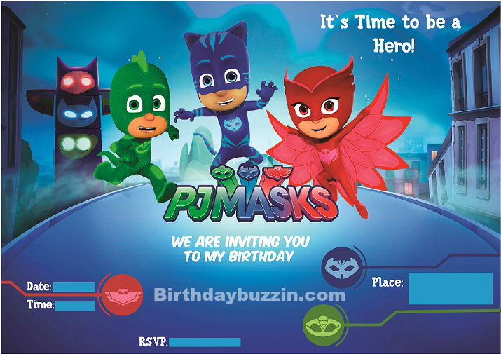 Pj Mask Invitation Template Awesome Free Printable Pj Masks Birthday Invitations