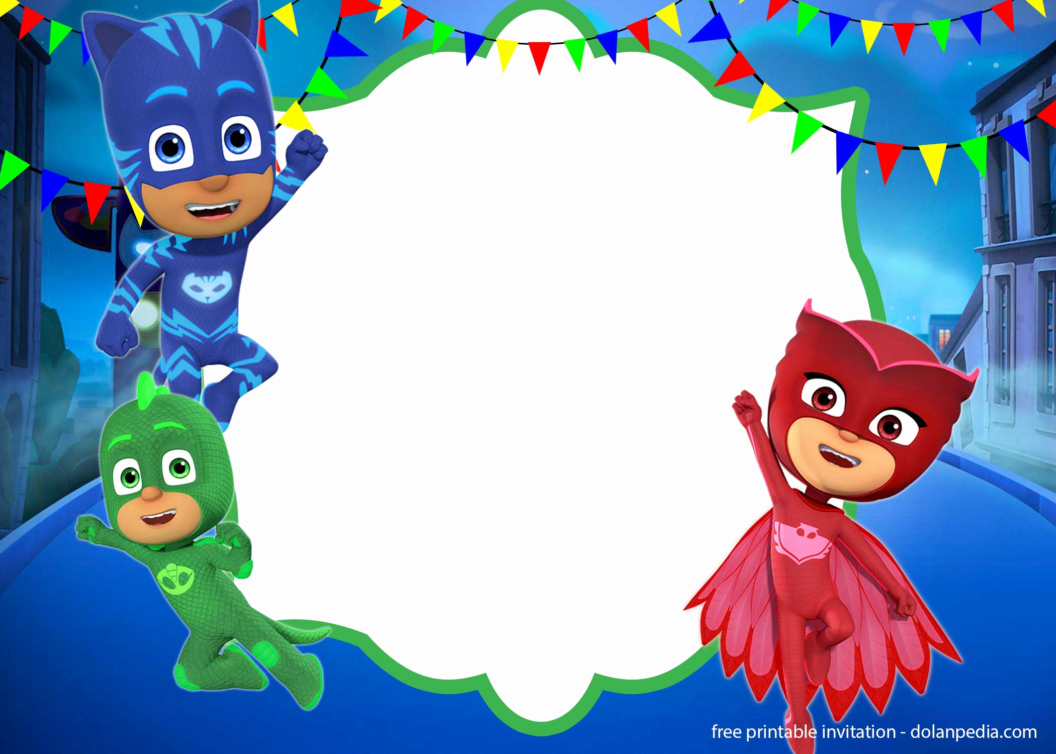 Pj Mask Invitation Template Beautiful Free Pj Masks Invitation Templates – Editable and