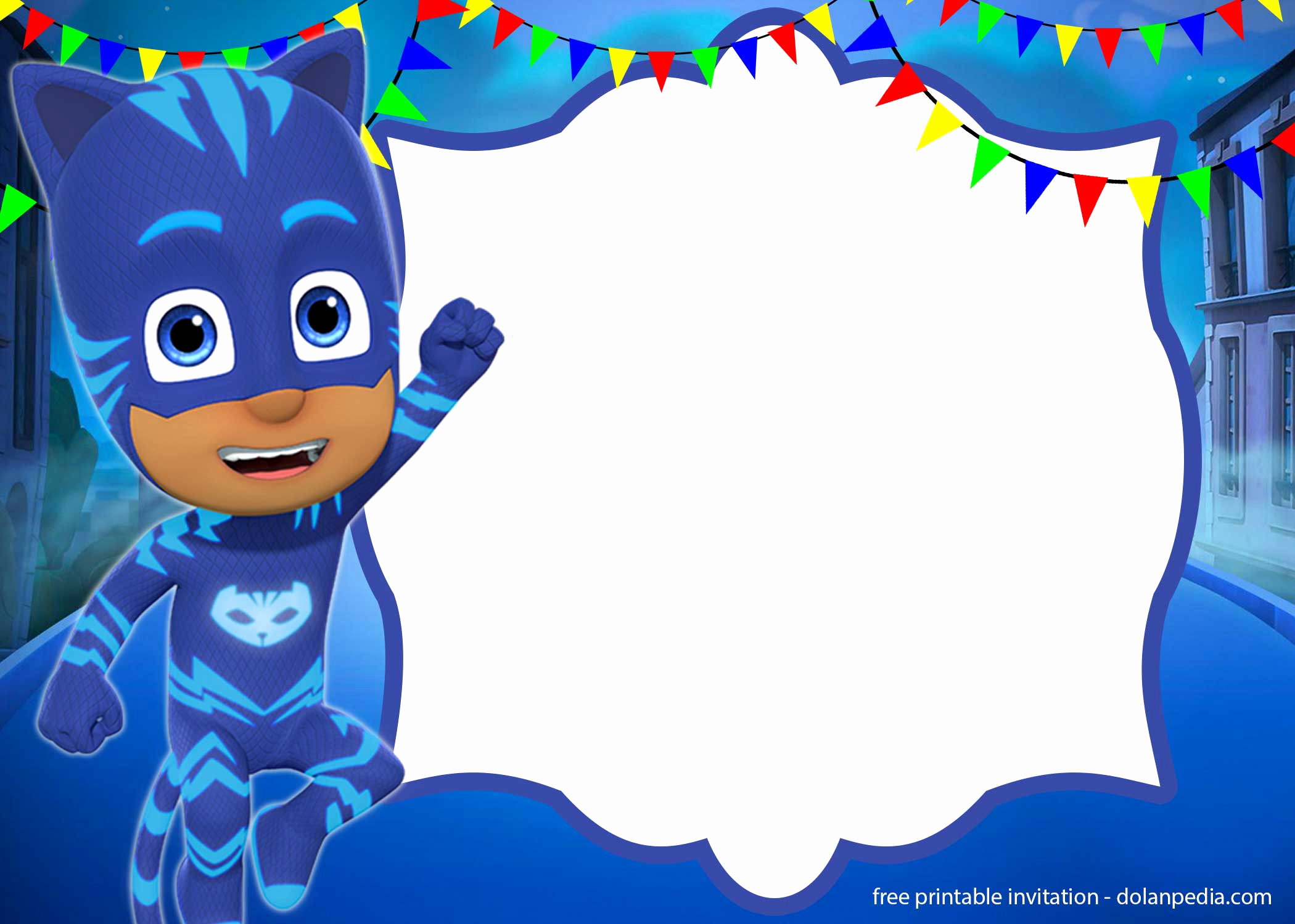 Pj Mask Invitation Template New 9 Free Pj Masks Birthday Invitation Templates – Updated