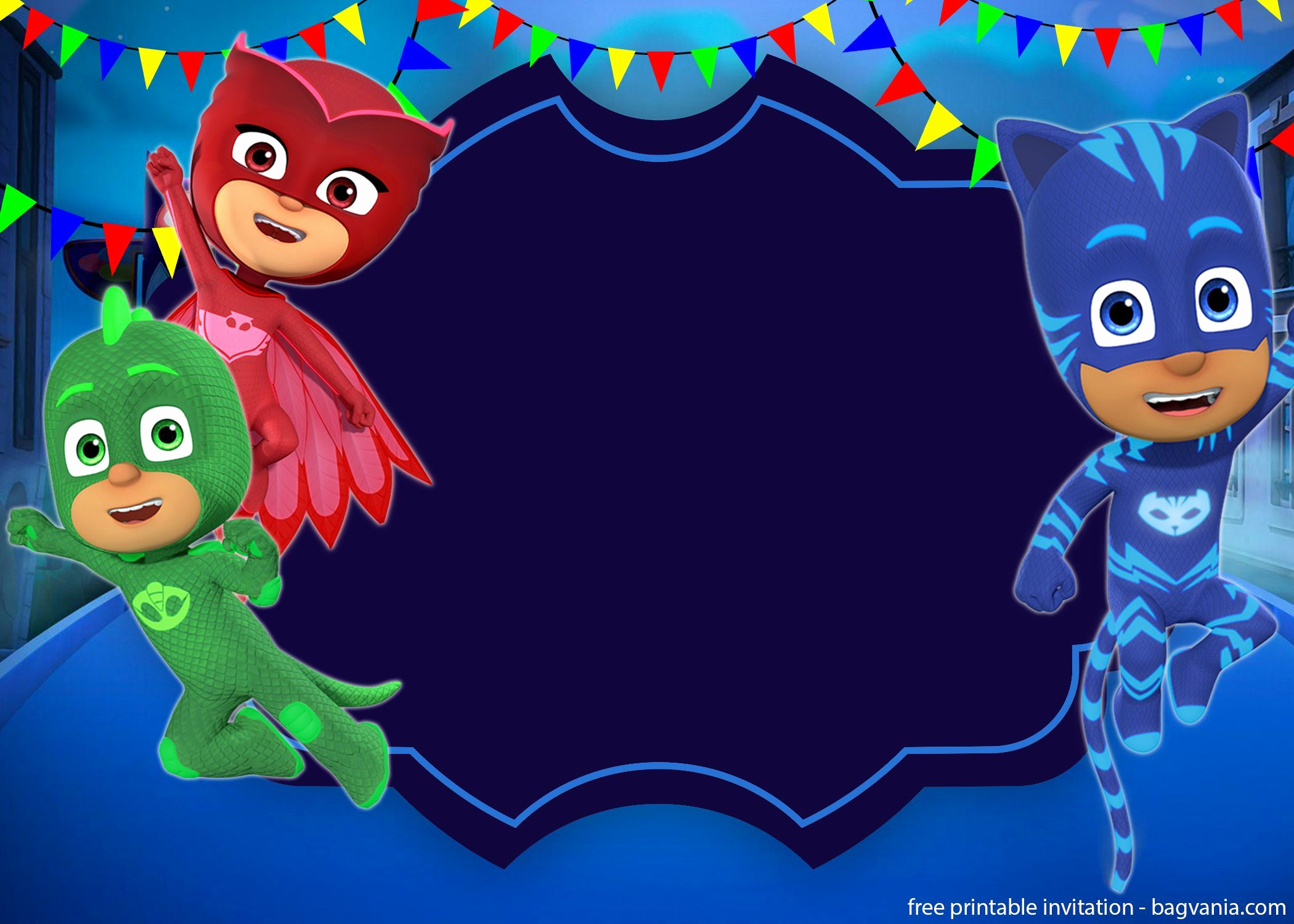 Pj Mask Invitation Template Unique Free Printable Pj Masks Invitation Template