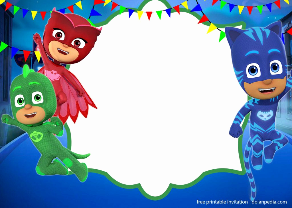 Pj Masks Invitation Template Beautiful Free Pj Masks Invitation Templates – Editable and