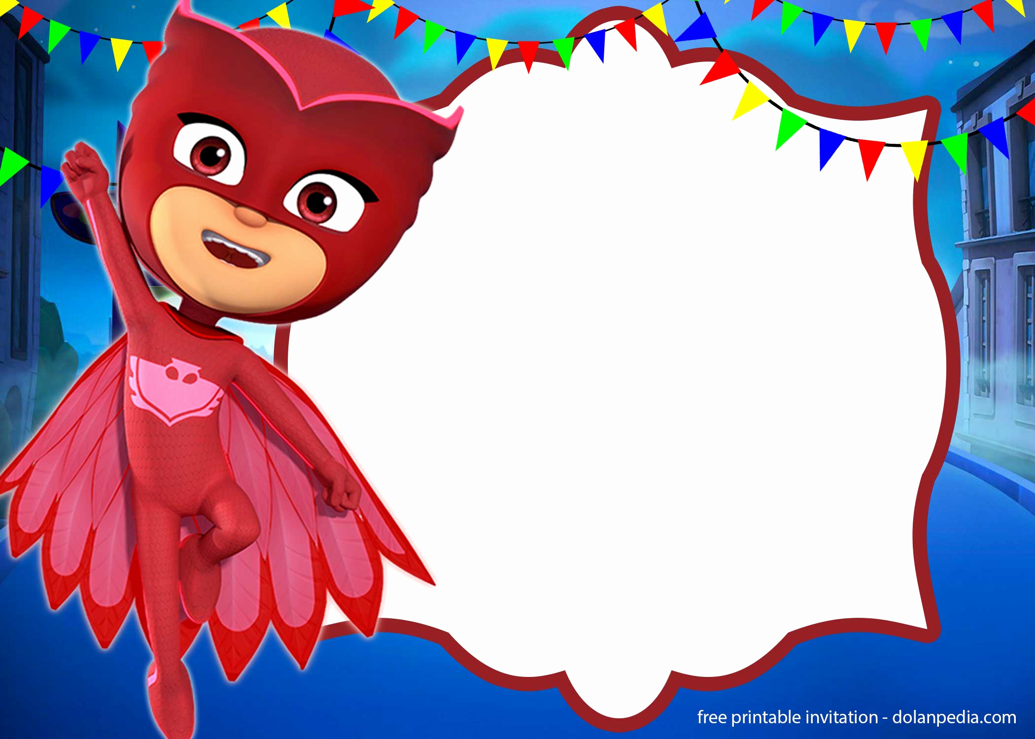Pj Masks Invitation Template Free Beautiful Free Pj Masks Invitation Templates – Editable and