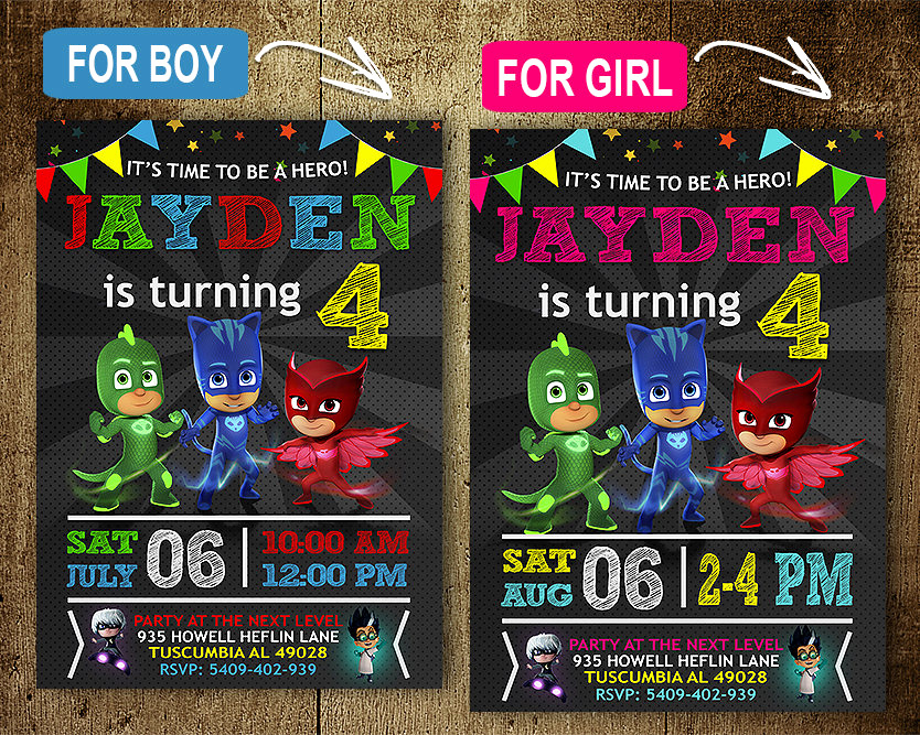 Pj Masks Invitation Template Free Best Of Pj Mask Birthday Invitation Invitations Pj Mask Invitation