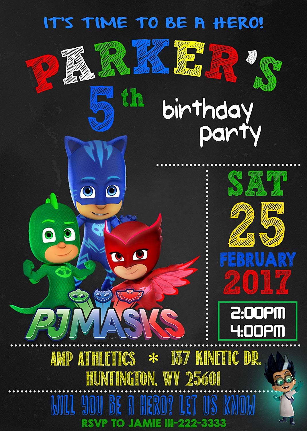 Pj Masks Invitation Template Free Best Of Pj Mask Invitations Free