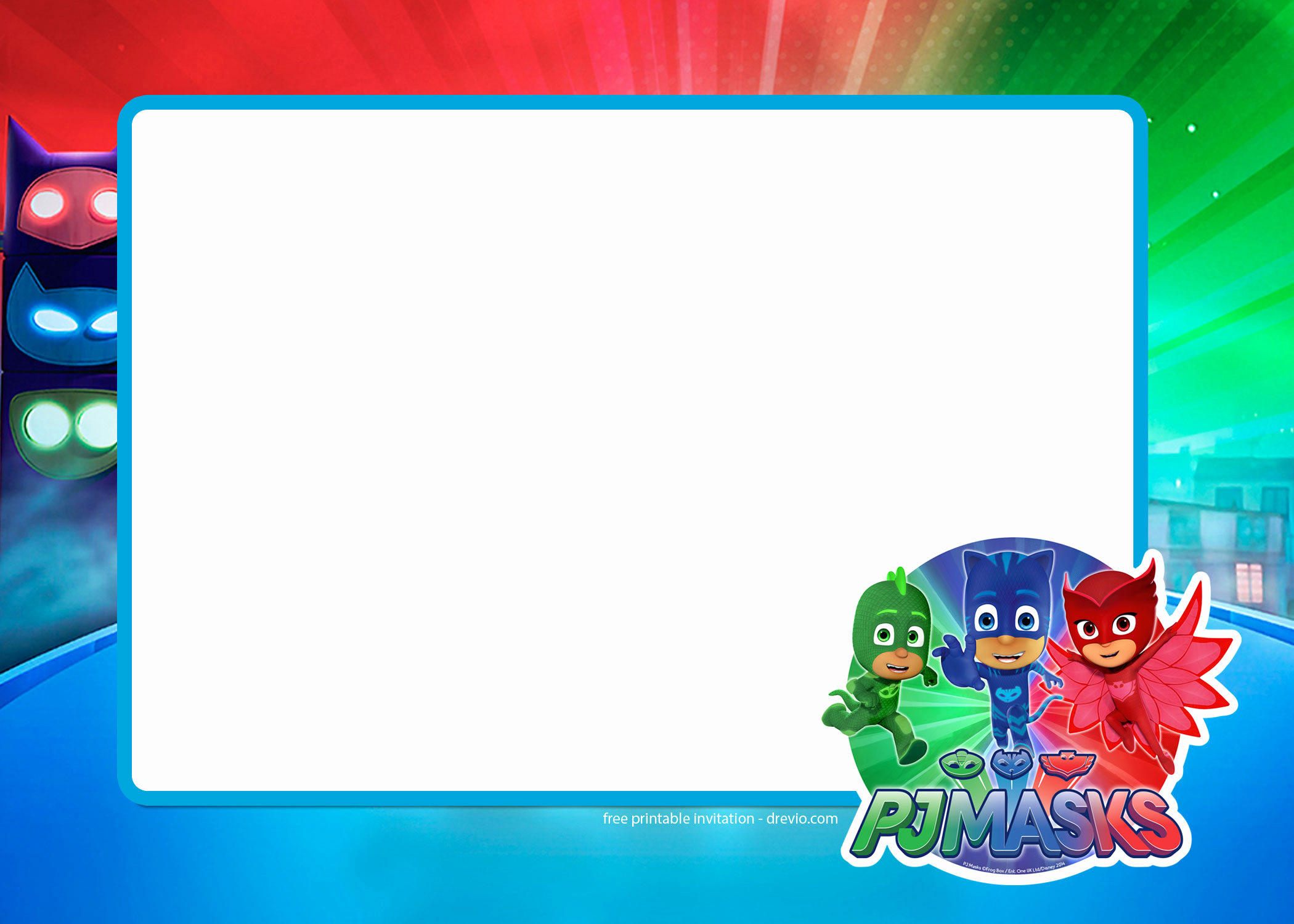 Pj Masks Invitation Template Inspirational Free Pj Masks Birthday Invitation Templates