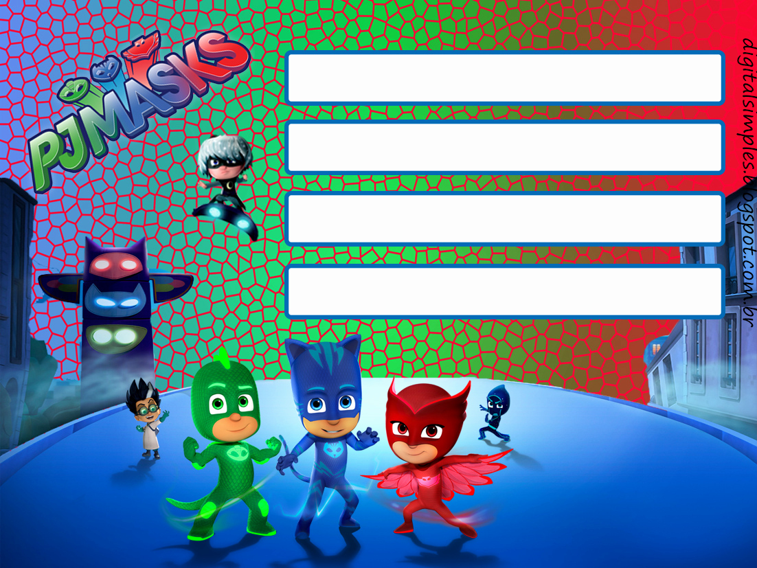 Pj Masks Invitation Template Lovely Pj Masks Party Printables for Free