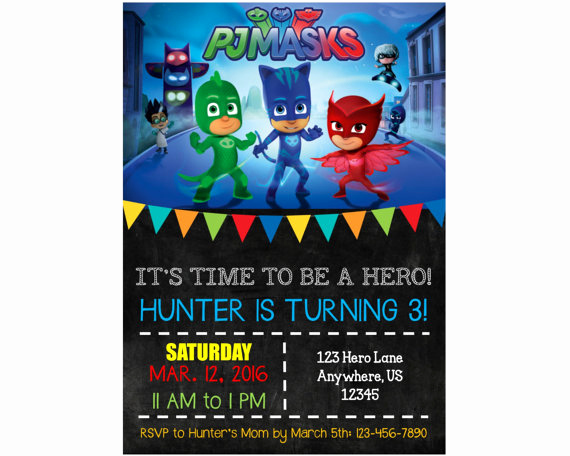 Pj Masks Invitation Template New Pj Masks Birthday Party Ideas and themed Supplies