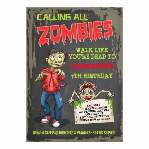 Plants Vs Zombies Invitation Template Beautiful 1000 Ideas About Zombie Birthday Parties On Pinterest