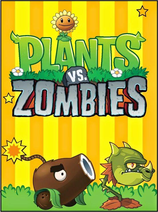 Plants Vs Zombies Invitation Template Beautiful Plantas Vs Zombies Imágenes Tarjetas O Invitaciones Para