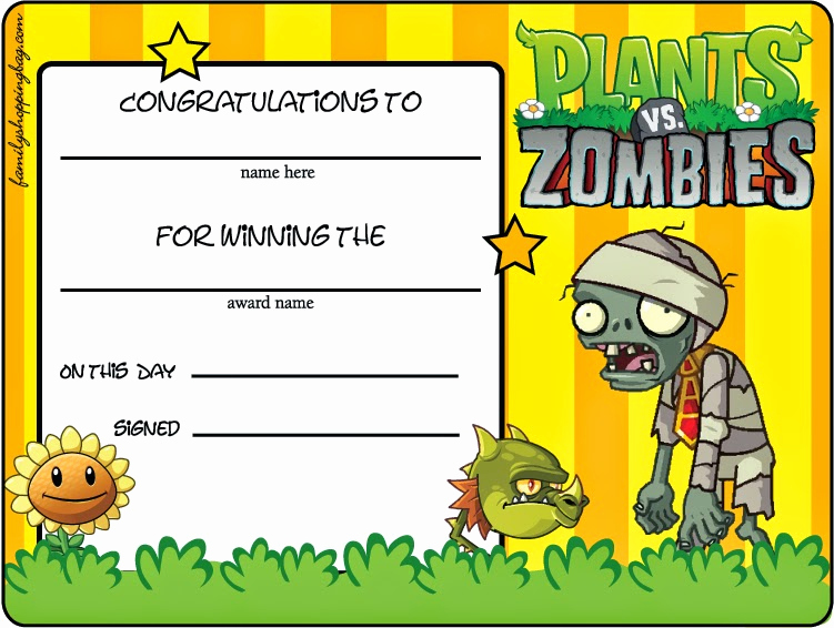 Plants Vs Zombies Invitation Template Fresh Plants Vs Zombies Free Printables Oh My Fiesta for Geeks