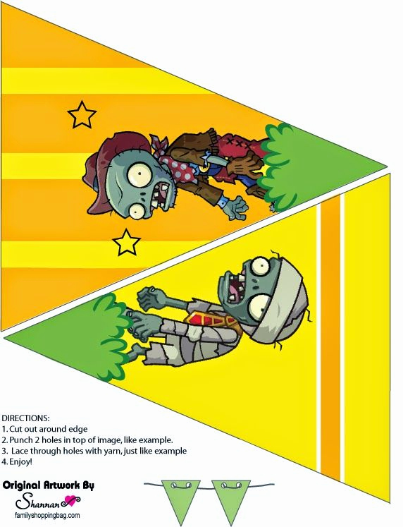 Plants Vs Zombies Invitation Template Inspirational 148 Best Banderines Editables Images On Pinterest
