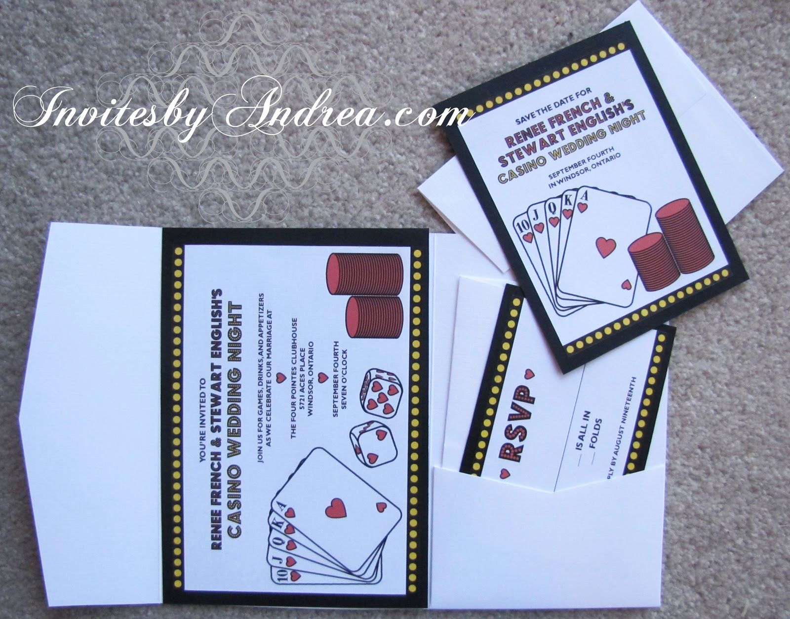 Playing Card Invitation Template Beautiful Playing Card Invitation Template