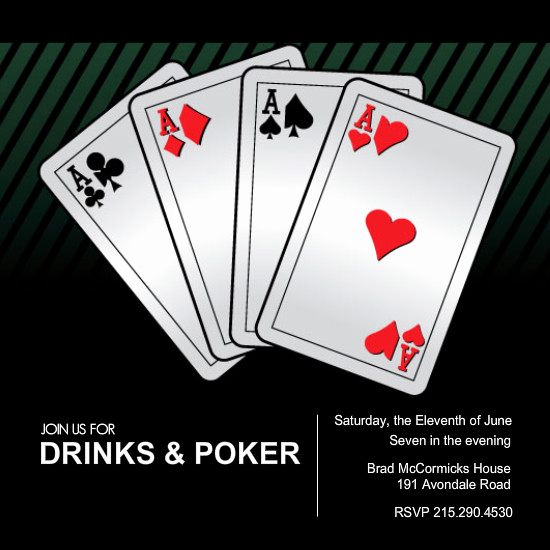 Playing Card Invitation Template Beautiful Poker Night Invitations Playing Cards Poker Night Invitation