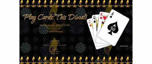 Playing Card Invitation Template Best Of Free Diwali Invitation Card & Line Invitations