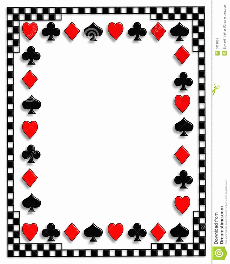 Playing Card Invitation Template Free Awesome Suits Background Google Search