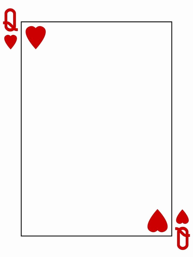 Playing Card Invitation Template Free Beautiful Journal Card Queen Of Hearts Playing Card 3x4 Photo
