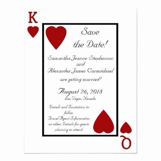 Playing Card Invitation Template Free Beautiful Personalized Queen Of Hearts Wedding Invitations