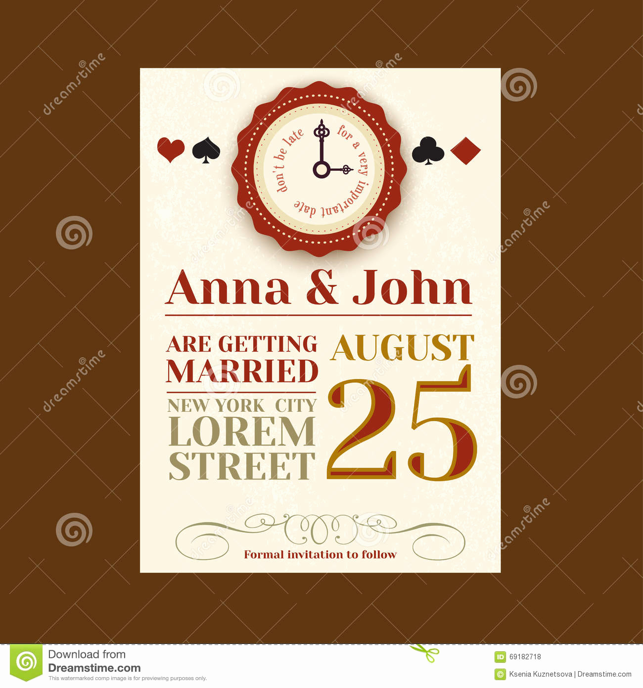 Playing Card Invitation Template Free Best Of Alice In Wonderland Save the Date Card Vintage Invitation