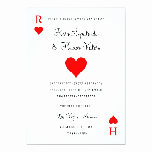Playing Card Invitation Template Free Elegant Las Vegas Casino Poker Playing Card Invitation