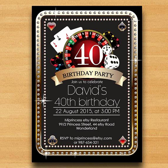Playing Card Invitation Template Free Fresh Items Similar to Poker Playing Card Birthday Invitation