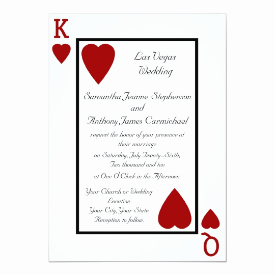 Playing Card Invitation Template Free Inspirational Playing Card King Queen Wedding Invitations