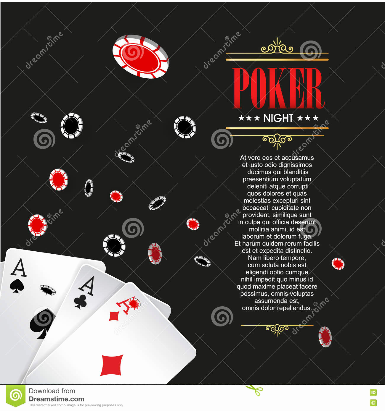 Playing Card Invitation Template Free Luxury Casino Poker Poster Banner Background Flyer Template