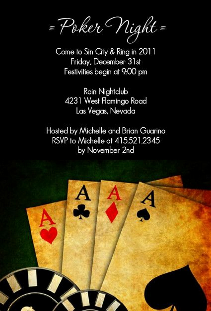 Playing Card Invitation Template Free Unique 1000 Images About Poker Night Parties On Pinterest