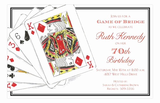 Playing Card Invitation Template New 7 Best Euchre Printables Images On Pinterest