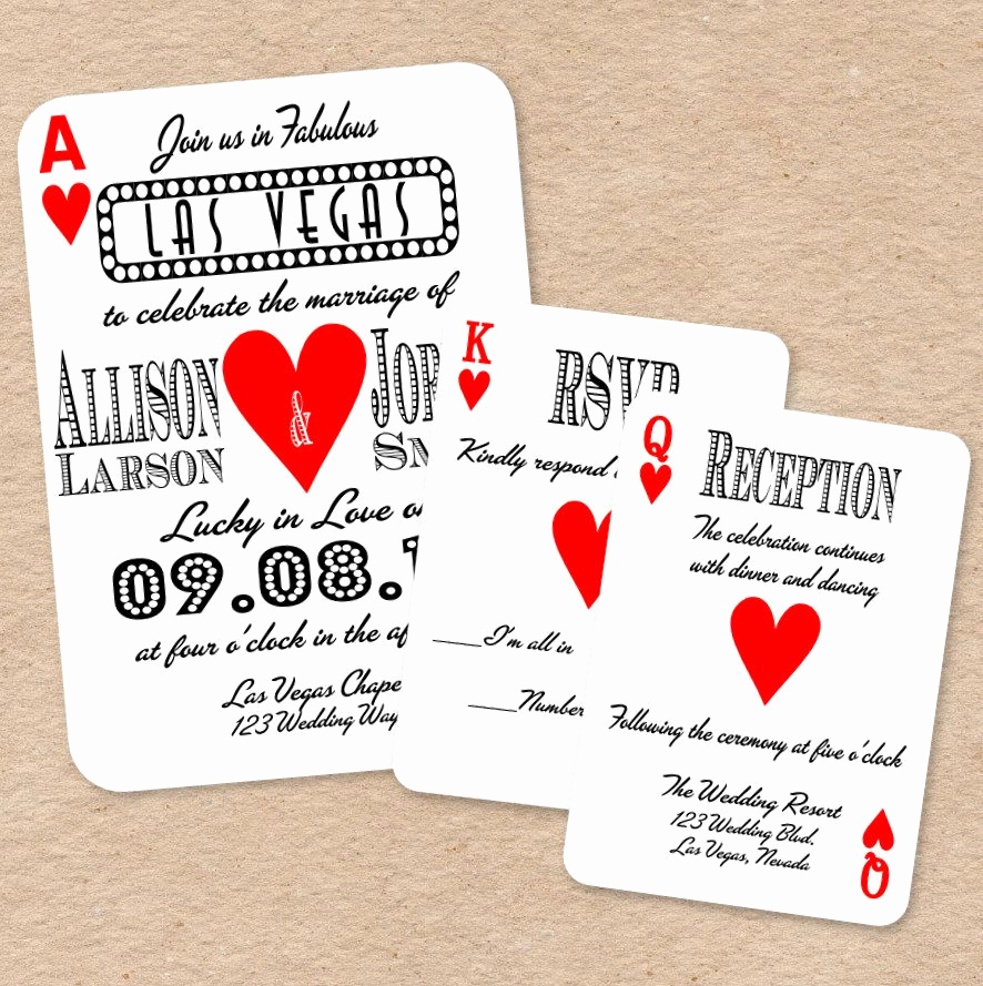 Playing Card Invitation Template Unique Playing Card Invitation Template