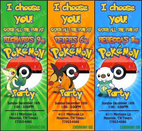 Pokemon Birthday Invitation Templates Beautiful Pokemon Party Invitation