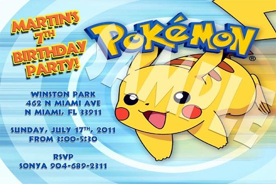 Pokemon Birthday Invitation Templates Free Awesome Pokemon Birthday Invitations Ideas – Free Printable