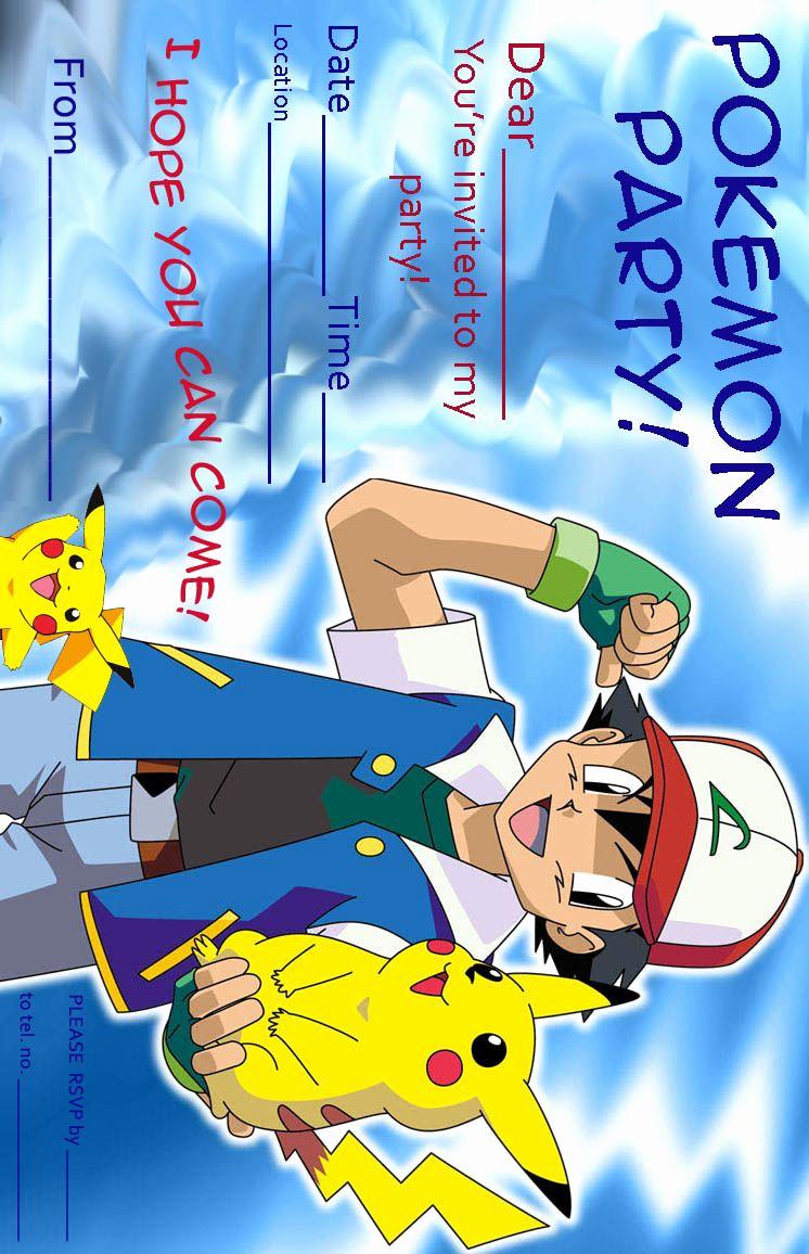 Pokemon Birthday Invitation Templates Free Beautiful Pokemon Invitation