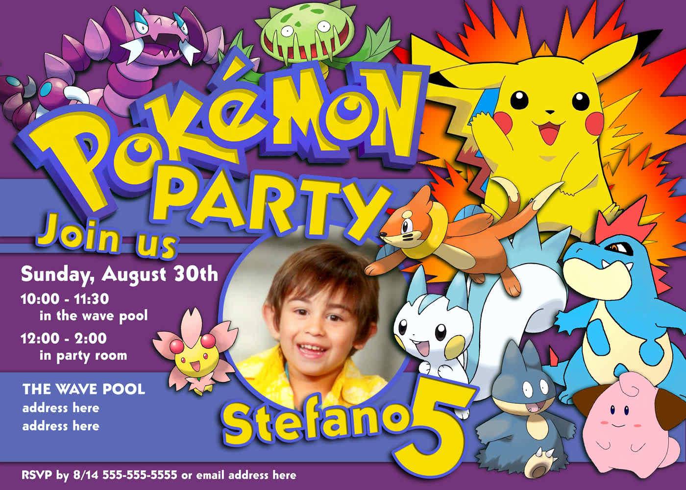 Pokemon Birthday Invitation Templates Free Beautiful Pokemon Party Invitations Ideas Party Xyz
