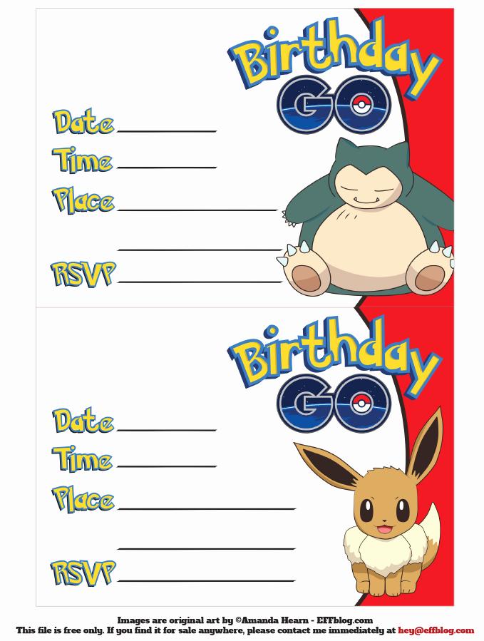 Pokemon Birthday Invitation Templates Free Elegant Go Free