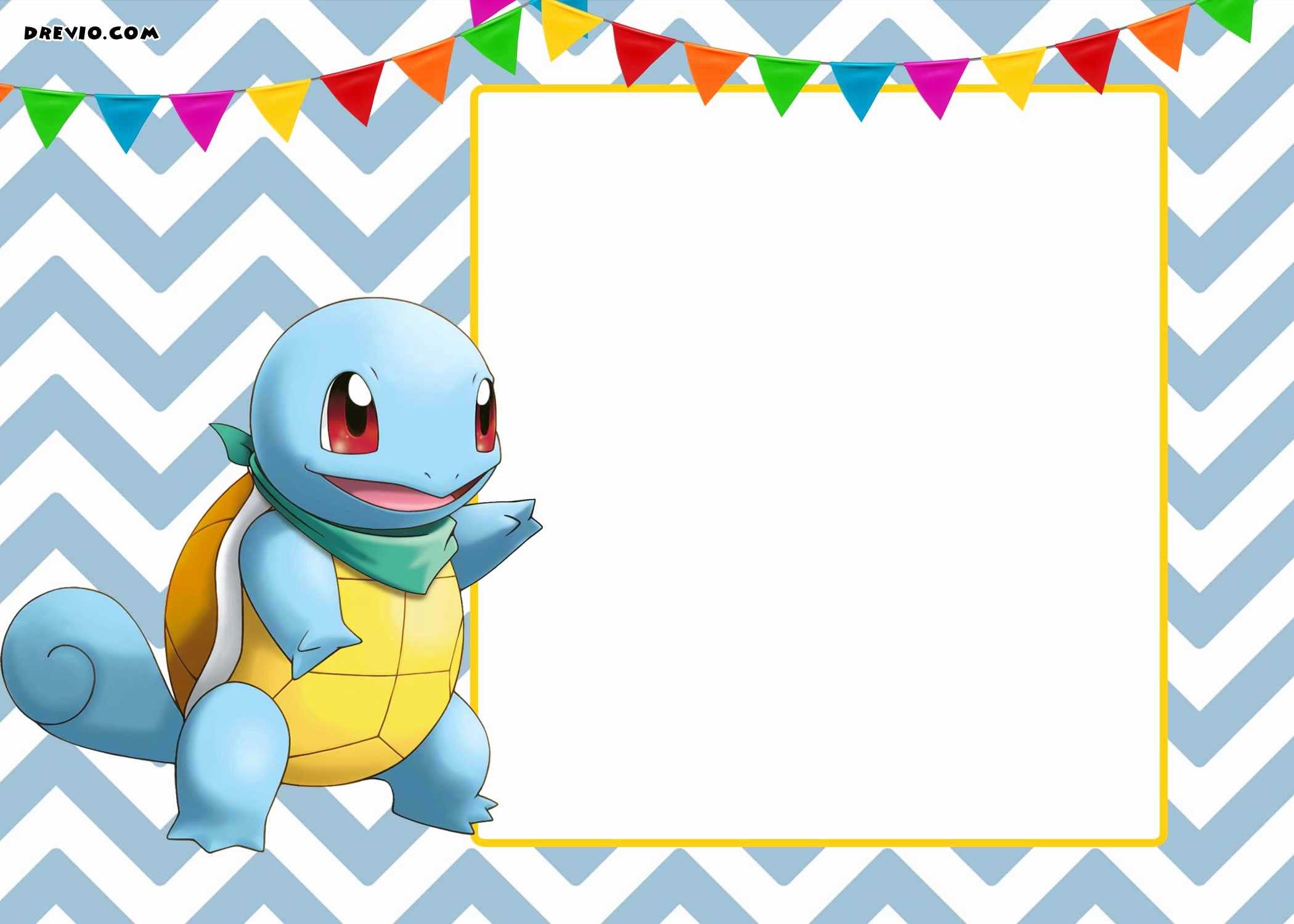 Pokemon Birthday Invitation Templates Free Lovely Free Printable Pokemon Invitation Templates Free