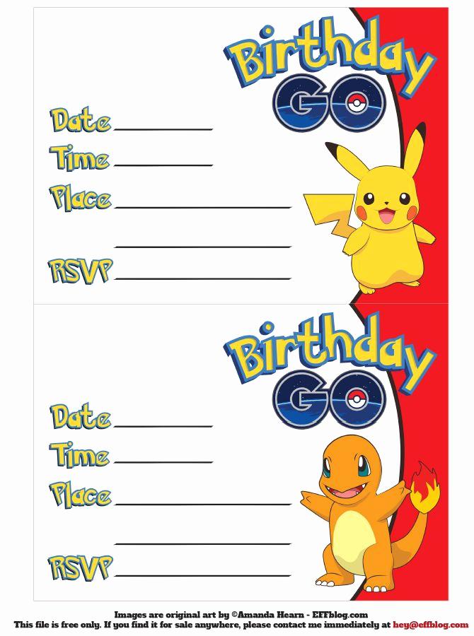 Pokemon Birthday Invitation Templates Free Luxury Pin by Crafty Annabelle On Pokemon Printables