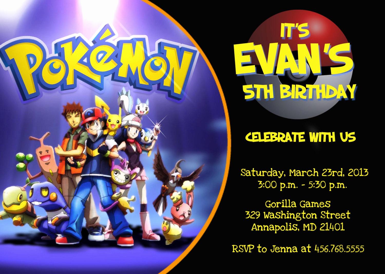 pokemon birthday invitation templates free