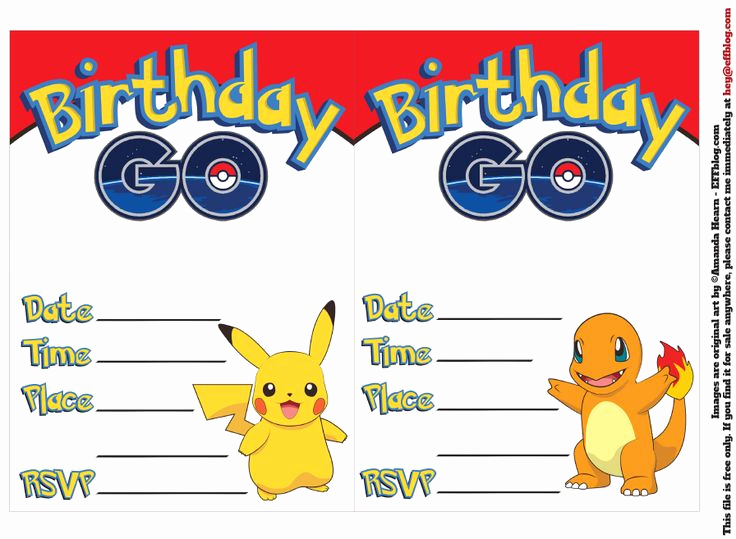 Pokemon Birthday Invitation Templates Free Unique 17 Best Images About Pokemon Printables On Pinterest