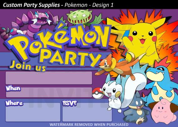Pokemon Birthday Invitation Templates Free Unique Pokemon Birthday Party Printable Invitations Page Three