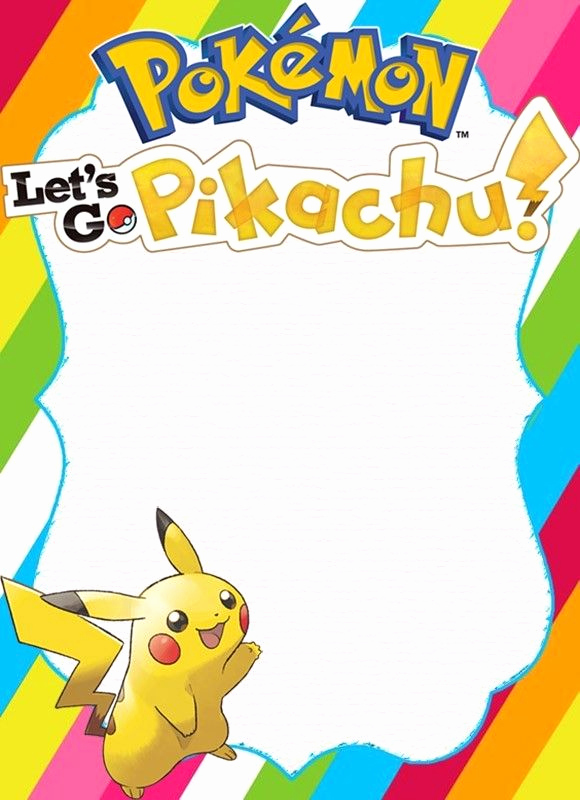 Pokemon Birthday Invitation Templates Inspirational Free Pikachu Birthday Party Invitation Template