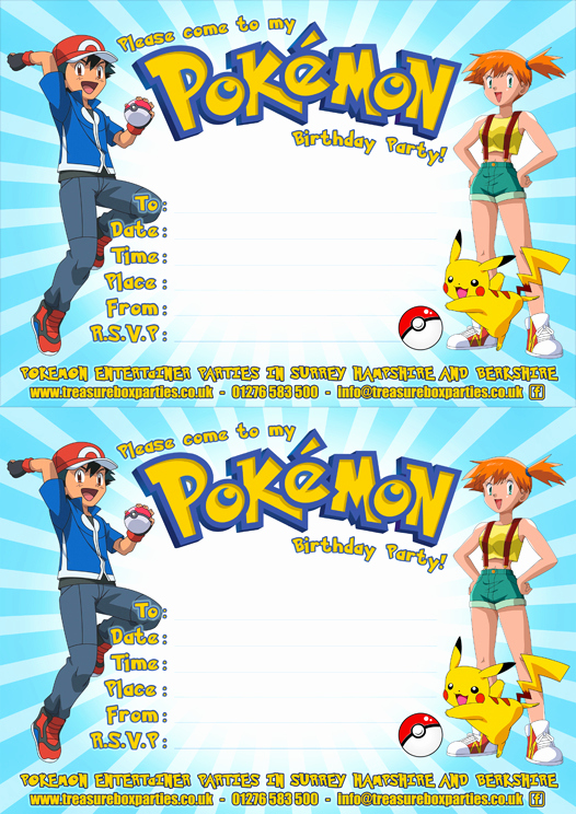 Pokemon Birthday Invitation Templates Unique Pokemon Birthday Invitation Templates Free