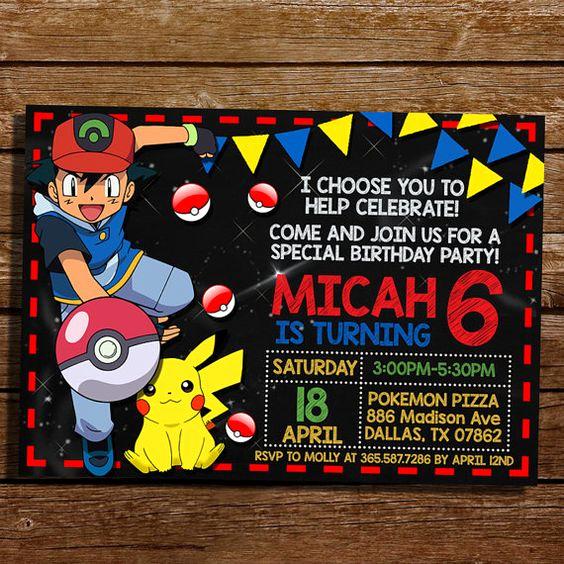 Pokemon Card Birthday Invitation Awesome Pokemon Party Invitations Ideas