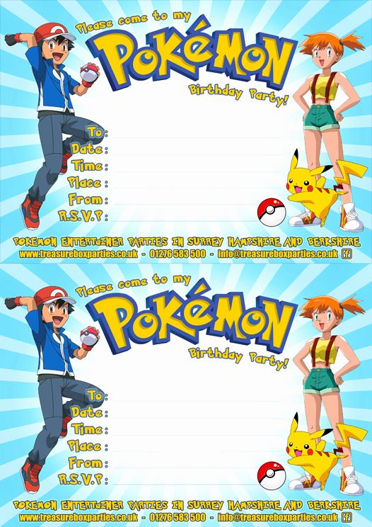 Pokemon Card Birthday Invitation Inspirational Pokemon Birthday Invitation Templates Free