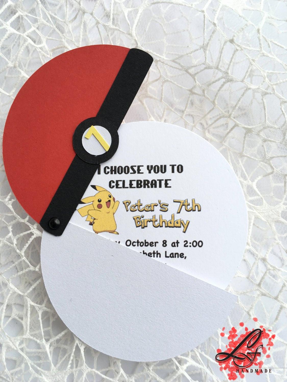 Pokemon Card Birthday Invitation Luxury Pokemon Birthday Invitations Pokemon Party by