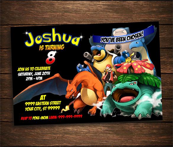 Pokemon Card Birthday Invitation New 9 Pokemon Card Templates Psd Ai