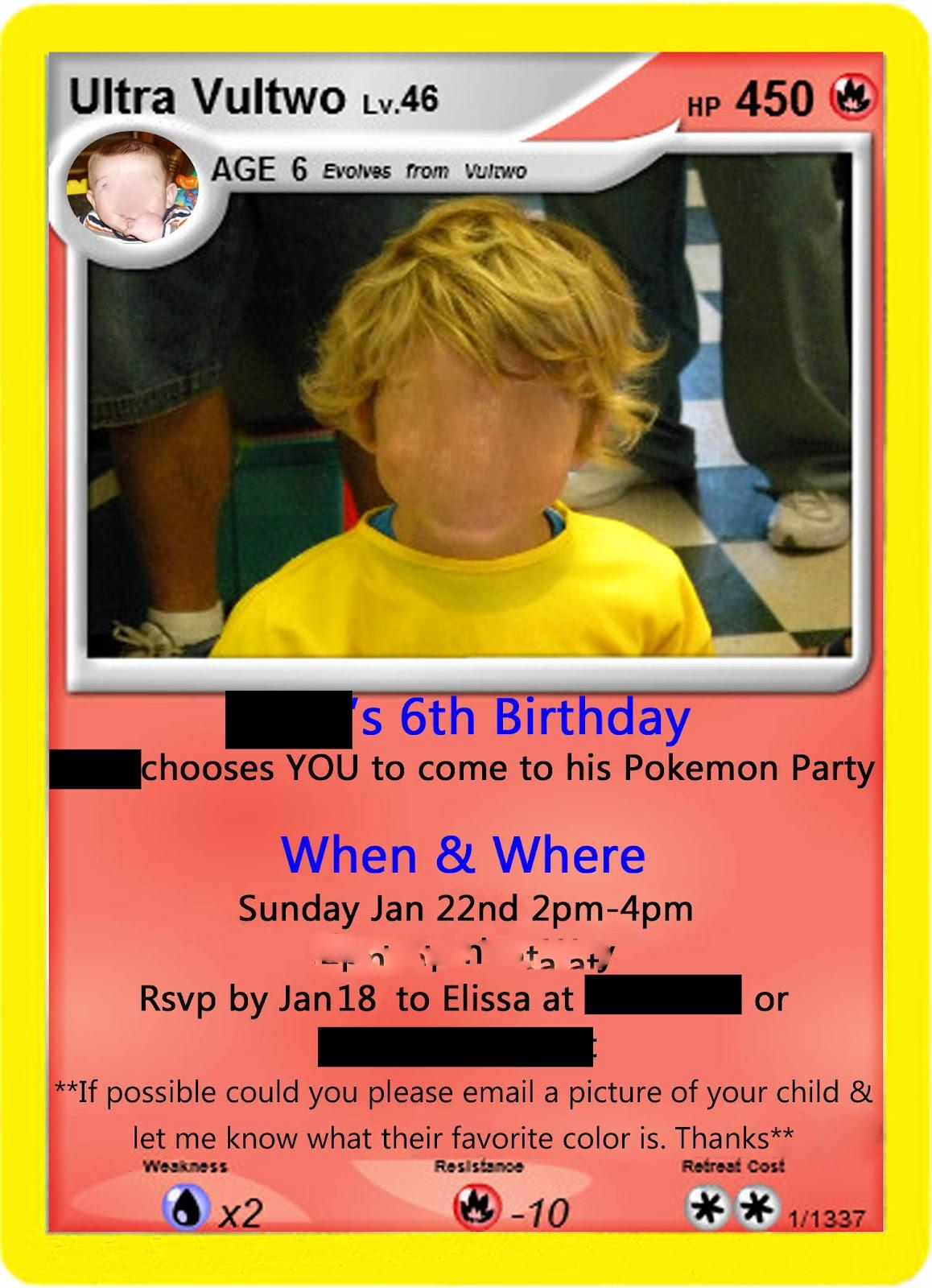 Pokemon Card Birthday Invitation New Just A Frugal Mom Pokemon Birthday Party