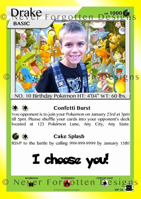 Pokemon Card Birthday Invitation New Pin by Renee Koliander On Pokemon